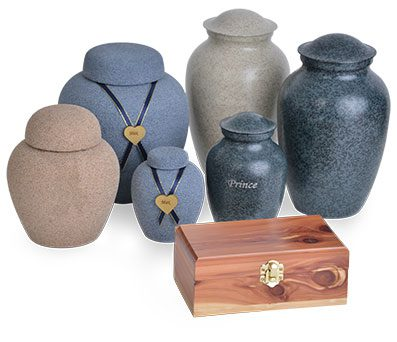 Urns included with Individual or Private cremation